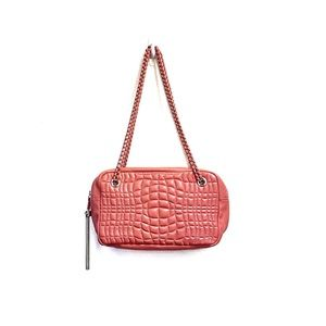 AIMEE KESTENBERG Quilted Leather Purse Pink Small